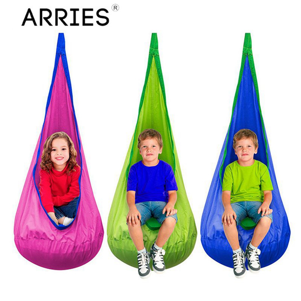 ARRIES Creative Kid Hammock Garden Furniture Pod Swings Chair Indoor Outdoor Hanging Seat Child Cocoon Swing Seat Patio Portable