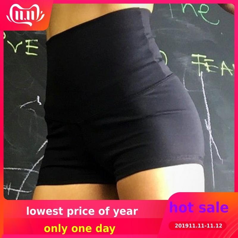 New High Waist Summer Shorts For Women Beautiful Buttocks Shorts Ladies Solid Color Shorts  Anti-light Slim Fitness Shorts