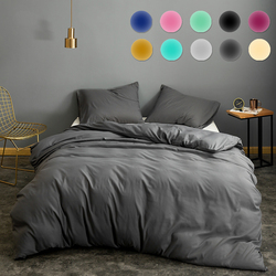 More Colors Solid Colors Duvet Cover 3pcs/Set Classical Universal Bedding Sets Bed Sheet Bed Cover Bedclothes With Pillowcase