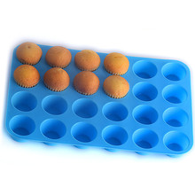24 Hole Cupcakes Mold Muffin Cupcake Silicone Mold Non Stick Soap Chocolate Muffin Baking Pan Silicone Cake Mold Cupcake Form 6 12 holes square cupcake pan muffin tray cupcake mold muffin pan carbon steel baking pan non stick bakeware biscuit pan zxh