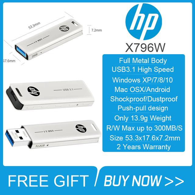 Original HP Pendrive Hi-Speed USB 32GB 64GB 128GB 256GB 512GB for computers