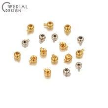 Design cordial 20 pces crimp & end grânulos/diy jóias acessórios/feitos à mão/genuíno chapeamento de ouro/joias achados & componentes