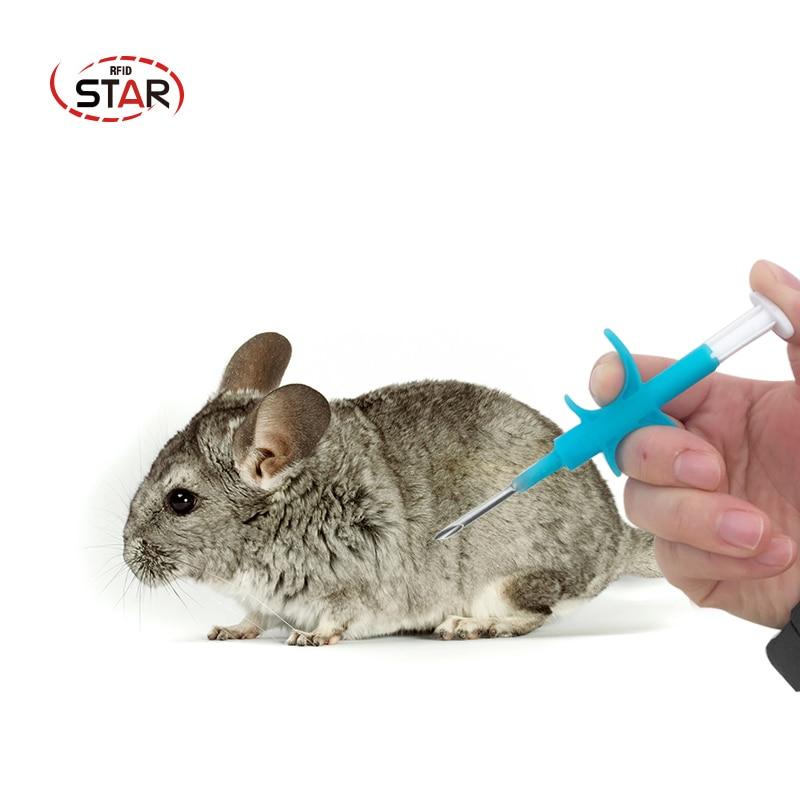 80pcs 1.4*8mm Animal Microchip RFID transponder Iso11784 Fdx-b 134.2khz LF cat dog tags pet syringe for cat vet shelter usage