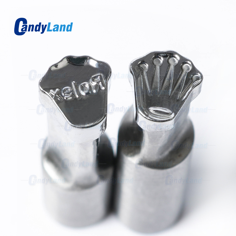 CandyLand Ro-lex Tablet Die Pill Press Die Candy Punch Die Set Custom Logo Punch Die Cast Pill Press For Tablet TDP Machine