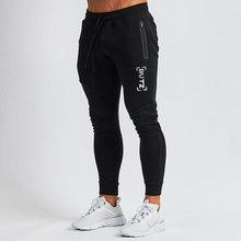 Bodybuilding pants men's brand new printed gym fitness black sports pants jogger