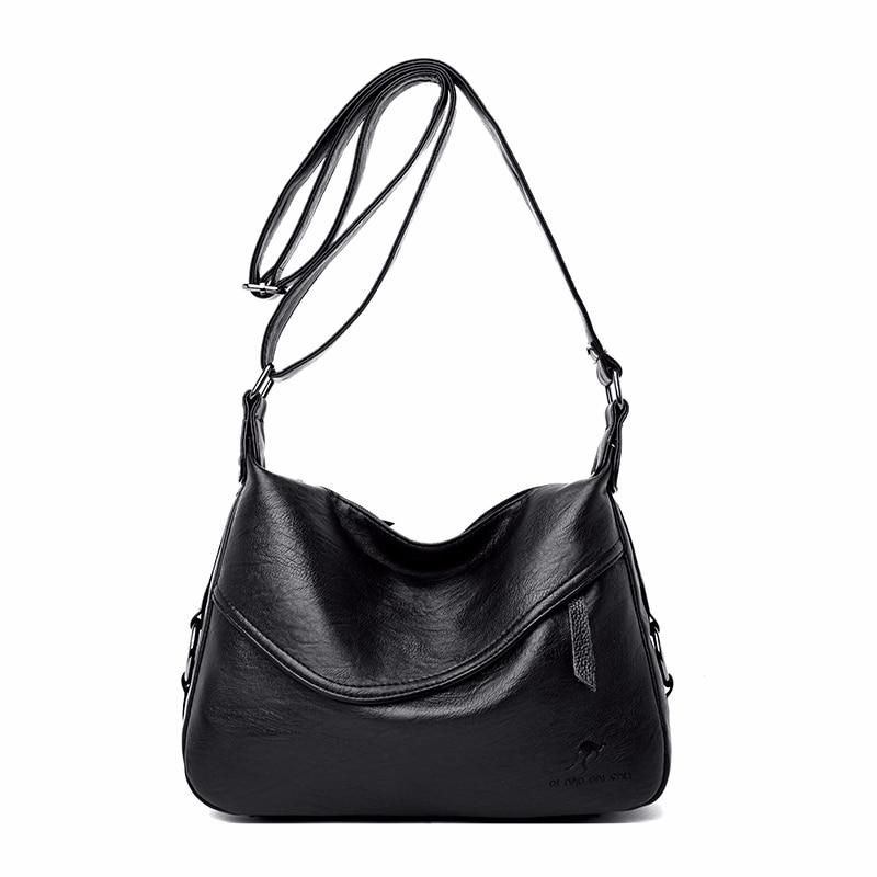 Image 2 - Crossbody Bags For Women Messenger Bags Female Soft Leather Shoulder Bag  Sac A Main Luxury Designer Vintage HandBags Women NewTop-Handle Bags   -