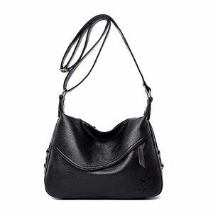 Image 2 - Crossbody torby dla kobiet Messenger torby kobiet miękka skóra torba na ramię Sac główna luksusowe projektant torebki w stylu Vintage kobiety nowy