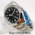 Полированные с автоматическим заводом мужские часы BLIGER Nologo циферблат MIYOTA Move Мужские t умственный ремень 39 мм