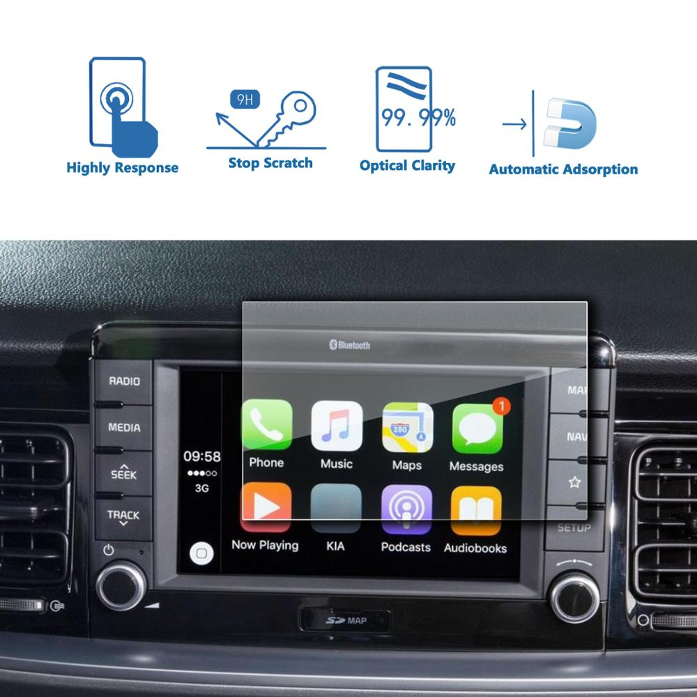 LFOTPP For Kia Stonic 2017 2018 Car Multimedia Radio Display Screen Protective Film,Auto Interior Protective Sticker Accessories