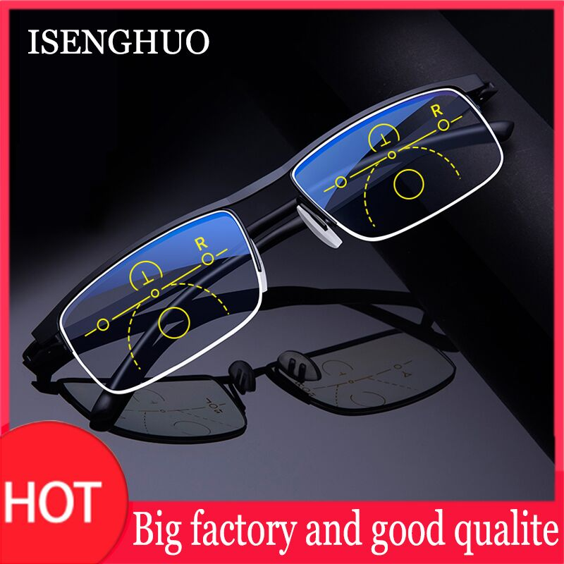 Intelligent Multifocal progressive reading glasses for men women near and dual-use Anti-Blue Light automatic adjustment Eyewear