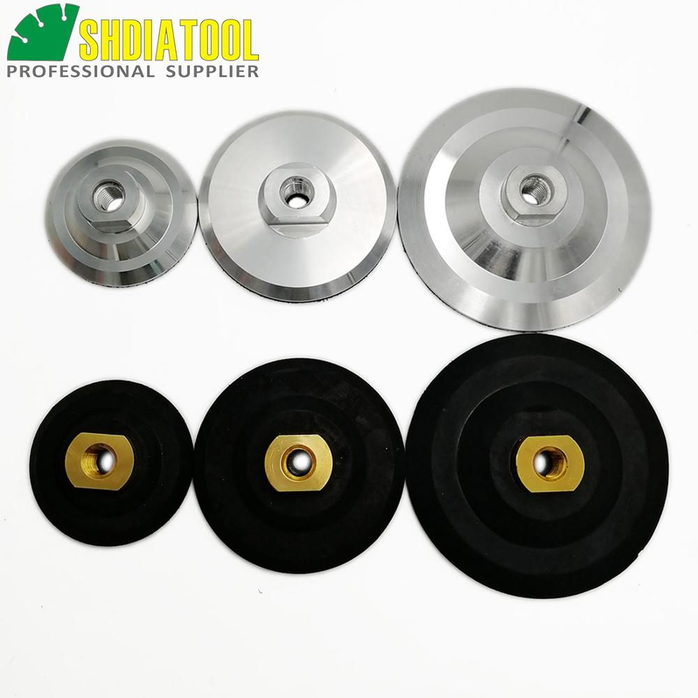 "5/"" rubber 7/"" rubber Back Holder Backer semi flexible Diamond Polishing Pad"