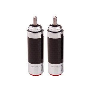 Image 5 - 20 шт., Hi Fi штекер аудиосигнала, RCA конector, усилитель DIY, RCA разъем, углеродное волокно, медь, родиевое покрытие, адаптер динамика