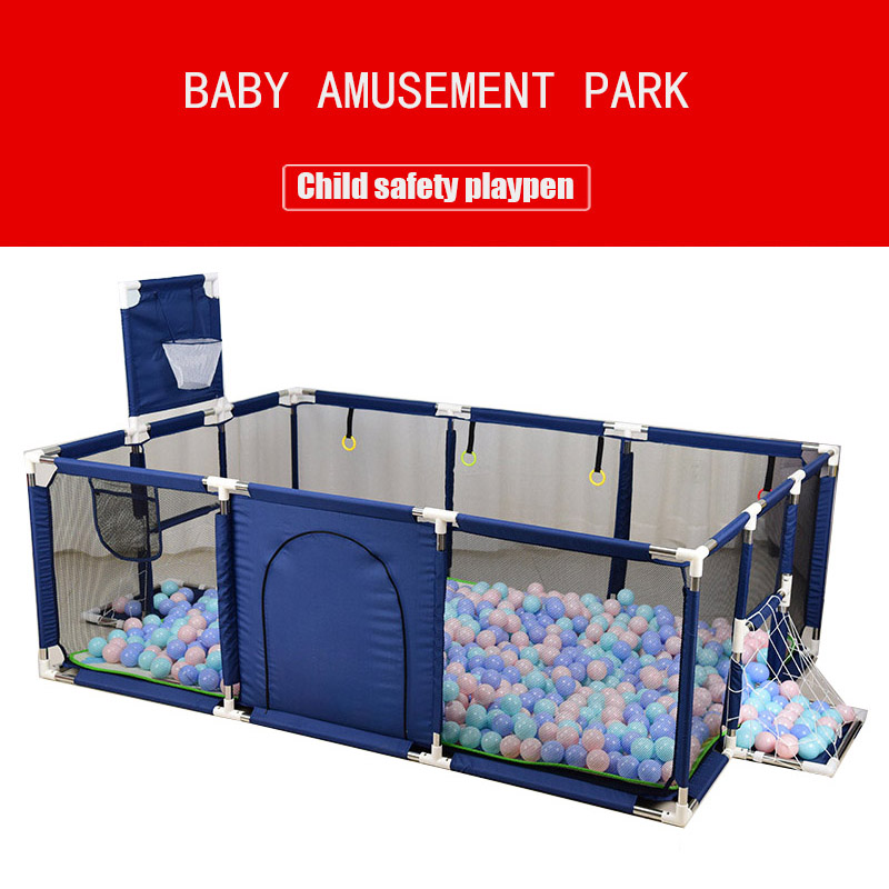 Children Playpen Pool Balls Baby Play Fence For 0-6 Years Ball Pool For Kids  Basketball Football Field Baby Playground