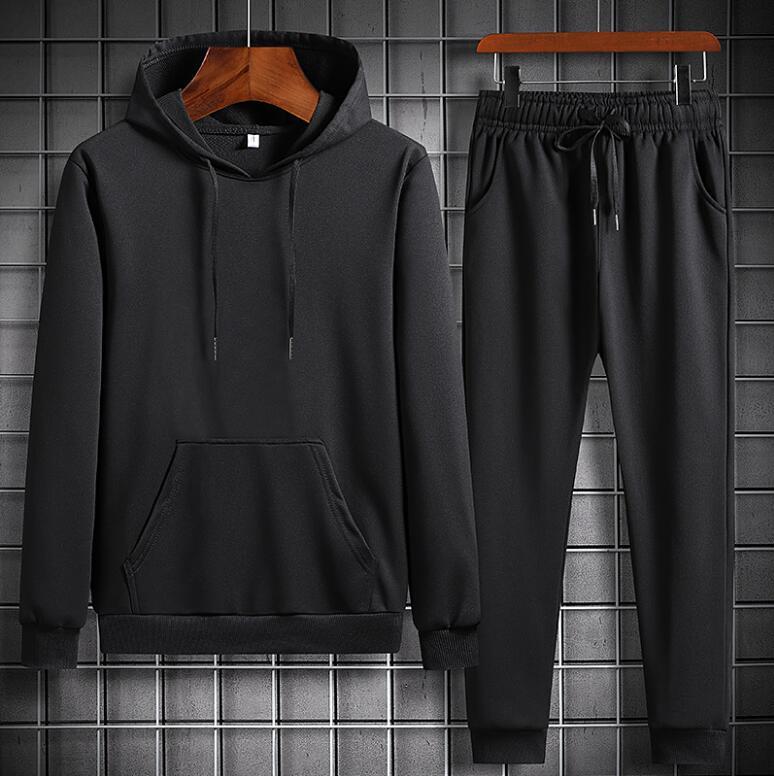 2020 Autumn Men's Tracksuit 2 Pieces Set Hoodies+Pants Sport Suits for Men Sweatshirt Hoodies Men's Clothing Sets Sportswear