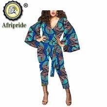 2020 африканские костюмы из 2 предметов для Женщин Дашики чистого