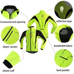 Image 3 - Arsuxeo velo térmico dos homens conjunto jaqueta ciclismo inverno à prova de vento calças de bicicleta mtb camisa ternos roupas 15kk