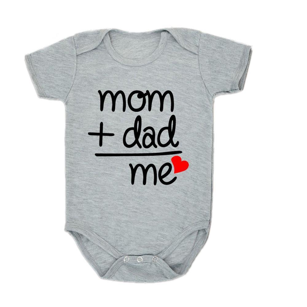 Baby Girl Clothes Bodysuit for Newborns Boys Letter Short Sleeve Bodysuit Baby Romper Onesie Rompers Infant Overalls For Kids
