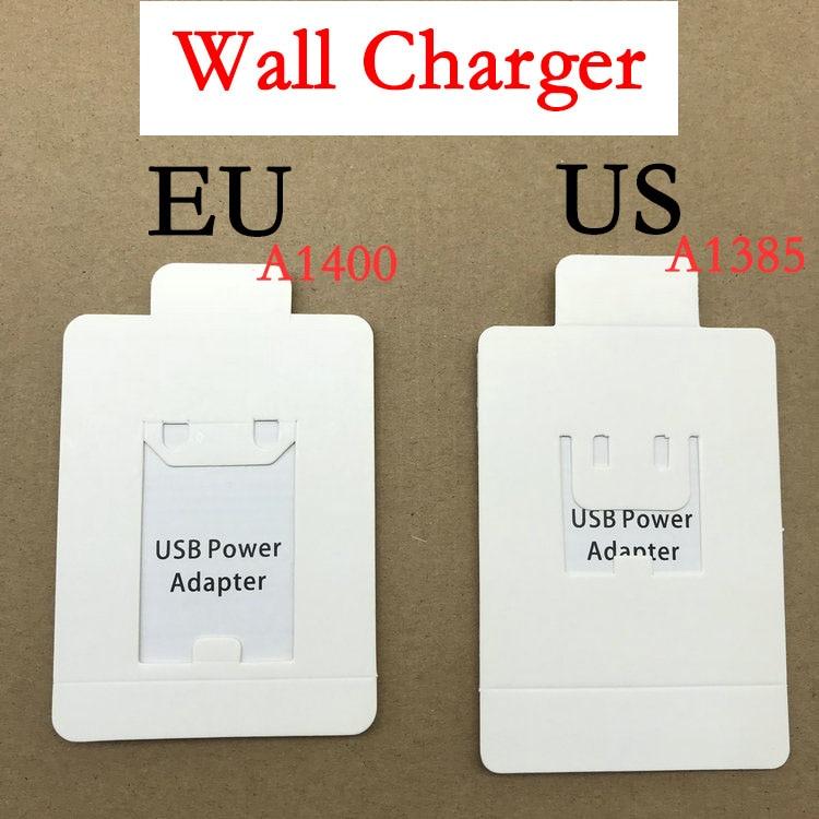 10 шт./лот AAAAA 1:1 качество A1400 A1385 A1399 EU US UK USB AC зарядное устройство настенный адаптер для iPhone 11 XR XS 8 7 6s 6 plus 5S