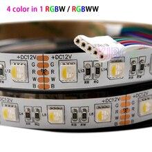 5 m/lotto DC 12V 24V RGBW/RGBWW 4 di colore in 1 circuito integrato del led 60 Leds/m 300leds Impermeabile IP30/65/IP67 5050 SMD flessibile luce di Striscia del LED