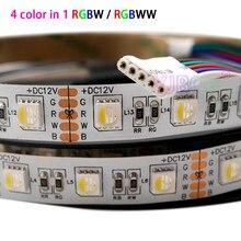 Chip led rgbw/rgbww 4 cores, 5, m/lote dc, 12v, 24v, chip de led, 60leds/m tira de luz de led flexível ip30/65/ip67, 300leds à prova d' água 5050 smd