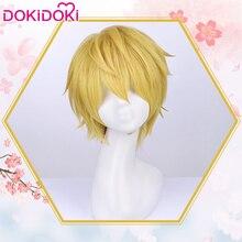 DokiDoki Anime Cosplay Wig Sakura Card Captor LI SYAORAN Men Short Golden Hair Heat Resistant