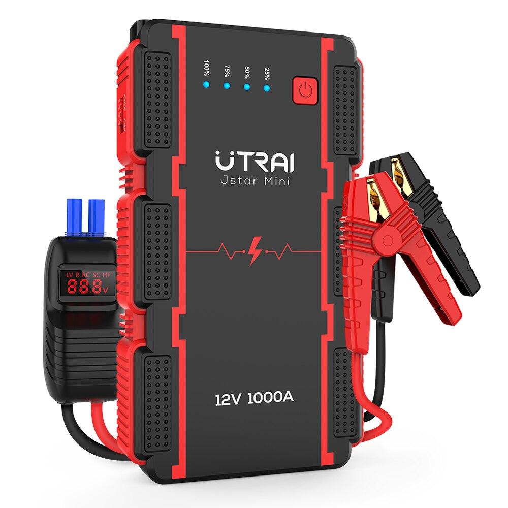 UTRAI Jstar мини стартер скачка 12В/13000 мА-ч/1000A пик Портативный аварийного Батарея Мощность банк авто усилитель измерения напряжения