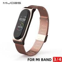 Cinturino per cinturino Mi band 4 Smart Bracelet per Xiaomi Mi Band 3 cinturino in metallo NFC versione globale accessori cinturino Miband 4