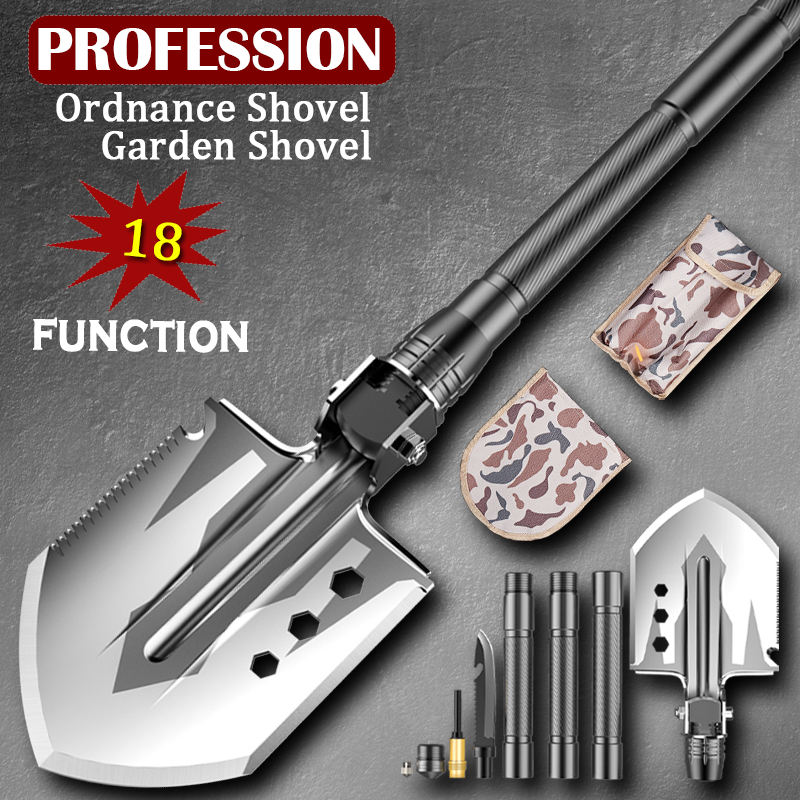 Garden Tools Shovel Multifunction Removable Spade Garden Shovel  Outdoor Emergency Camping Tools Portable 76cm Shovels Fast Ship