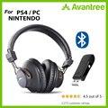 Avantree DG59 беспроводные Игровые наушники микрофон и Bluetooth USB аудио передатчик PC PS4 N intendo переключатель настольный компьютер