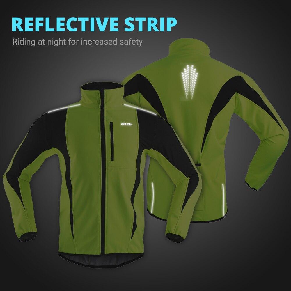 ARSUXEO – Veste polaire imperméable pour cyclisme, thermique d'échauffement, vêtement d'hiver coupe-vent, long, vélo de route, VTT
