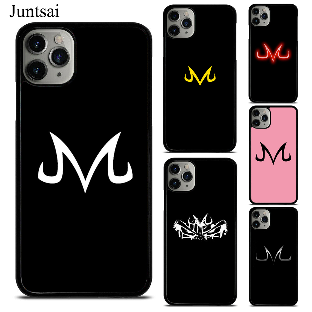Juntsai Vegeta Majin Logo TPU Phone Case For iPhone X XS Max XR 7 8 SE 2020 6S Plus 5 11 Pro Max Cover Coque image