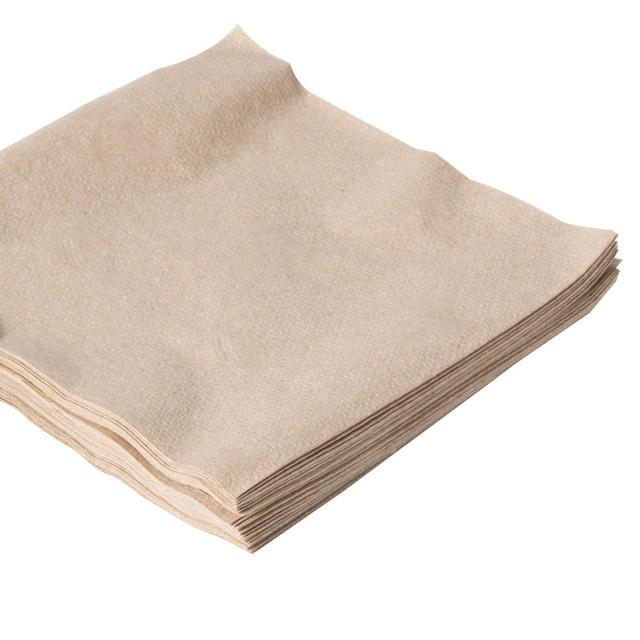 Brown Square Napkin Set 50 Pcs