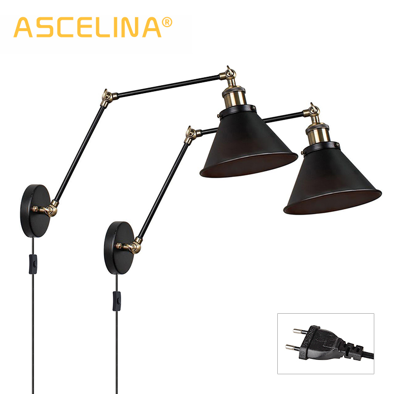 Vintage Wall Lamp Industrial Wall Lights Adjustable Led Wall Light Sconces Wall Bedroom Light American Country Retro Lighting