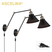 Vintage Wall Lamp Industrial wall lights Adjustable led light sconces Bedroom Light American country Retro lighting