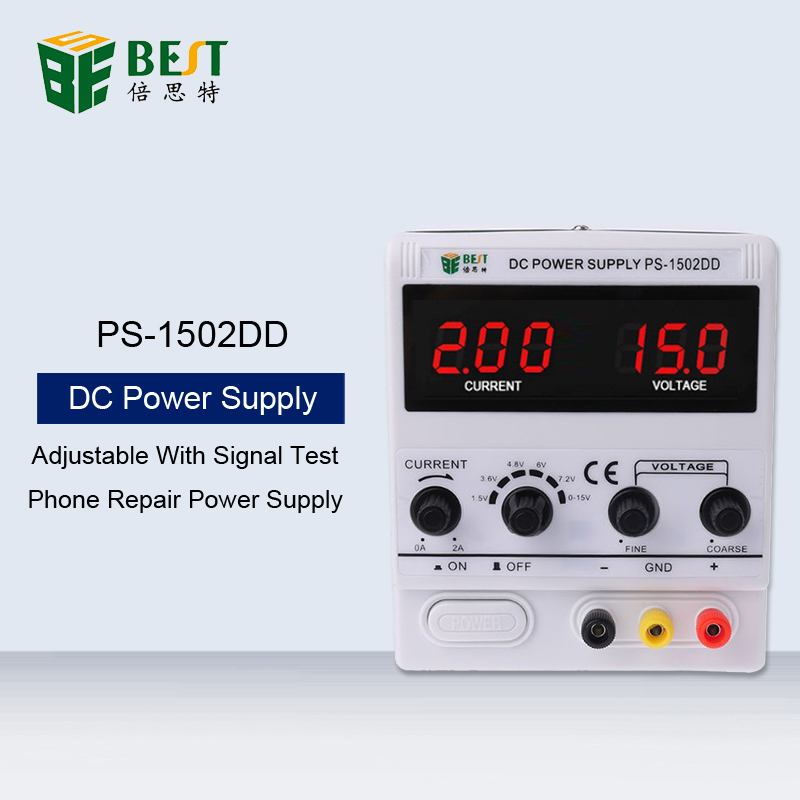 BEST <font><b>1502DD</b></font> 15V2A Phone Repair Dedicated Power Supply Adjustable DC Power Supply High-Precision Stable Voltage Current Regulator image