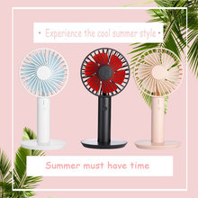 USB Mini  Small Fan Air Cooler Rechargeable With LED Ligth Display Portable Cooler Fan Convenient Desktop Small Electric Fan цена и фото