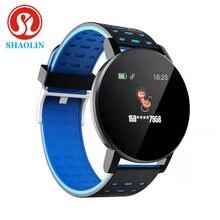 Shaolin inteligente pulseira de freqüência cardíaca relógio inteligente homem pulseira esportes relógios banda smartwatch android com despertador