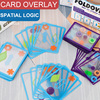 Kids Overlapping Swish Transparent Card Spatial Logical Puzzle Table Games Spatial Logical Training Toy Parent-child Intelligent
