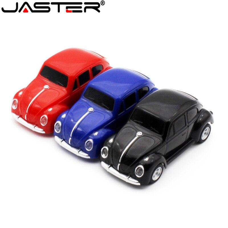 JASTER  Mini Beetle Car Model Pendrive 4GB 8GB 16GB 32GB USB Flash Drive Memory Stick Pen Drive Gift U Disk Free Shipping