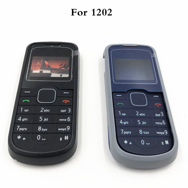 For <font><b>Nokia</b></font> <font><b>1202</b></font> New Full <font><b>Housing</b></font> Case Cover Front Frame With Key Board Display Glass+Middle Frame+Back Cover image