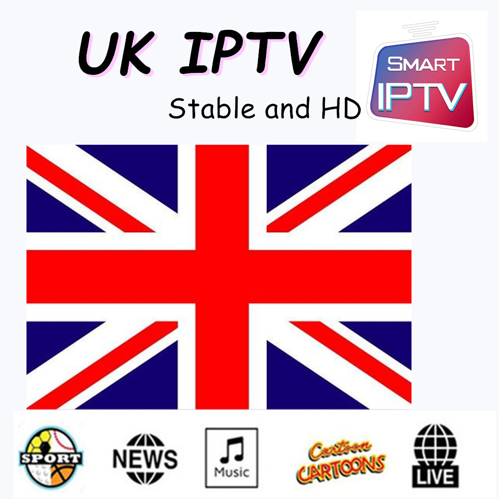 HD UK IPTV  Smart TV Support Android M3u Enigma2 Mag250 TVIP 4000+Vod Supported.very Sytable