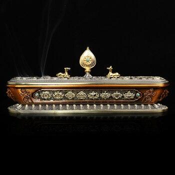 Antique Chinese Incense Burner Stick Holder Home Smell Room Diffuser Aromatic Bruleur Encens Tibetan Incense Burners KK60XL