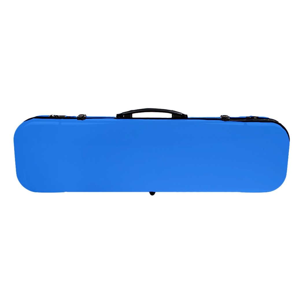 כינור מקרה מלבני פחמן סיבי 4/4 מלא גודל אנטי סטרס כינור תיבת כחול