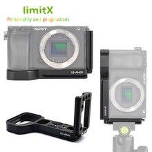 Soporte de placa L de liberación rápida soporte de trípode de mano para cámara Sony Alpha A6600