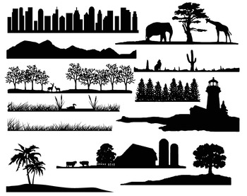 mail landscape silhouettes/Transparent Clear Stamps for DIY Scrapbooking/Card Making/Kids Christmas Fun Decoration Supplies 1