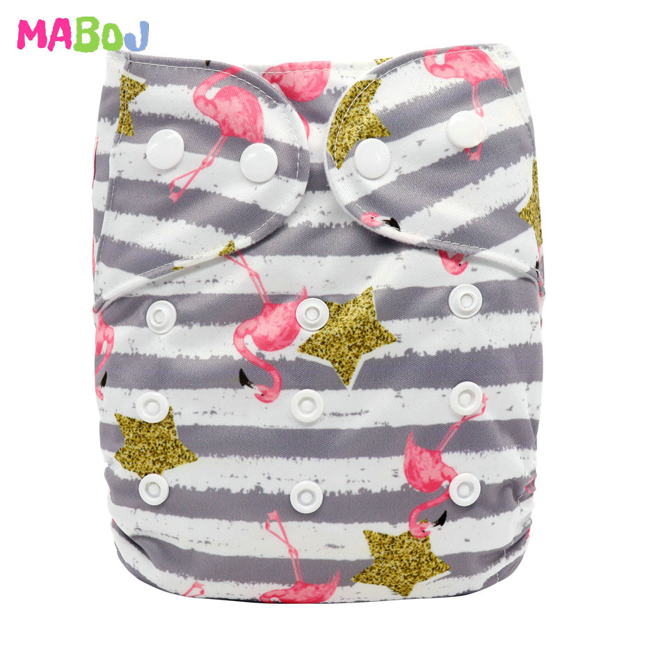 MABOJ Diaper Baby Pocket Diaper Washable Cloth Diapers Reusable Nappies Cover Newborn Waterproof Girl Boy Bebe Nappy Wholesale - Цвет: PD5-5-32