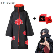 Anime Cosplay traje de Akatsuki dolor Itachi Deidara con capucha adulto manto de niños traje de fiesta genial abrigo Unisex Cabo