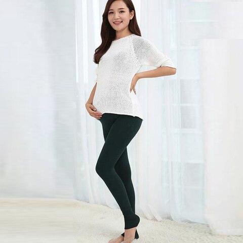 leggings de cintura alta roupa maternidade