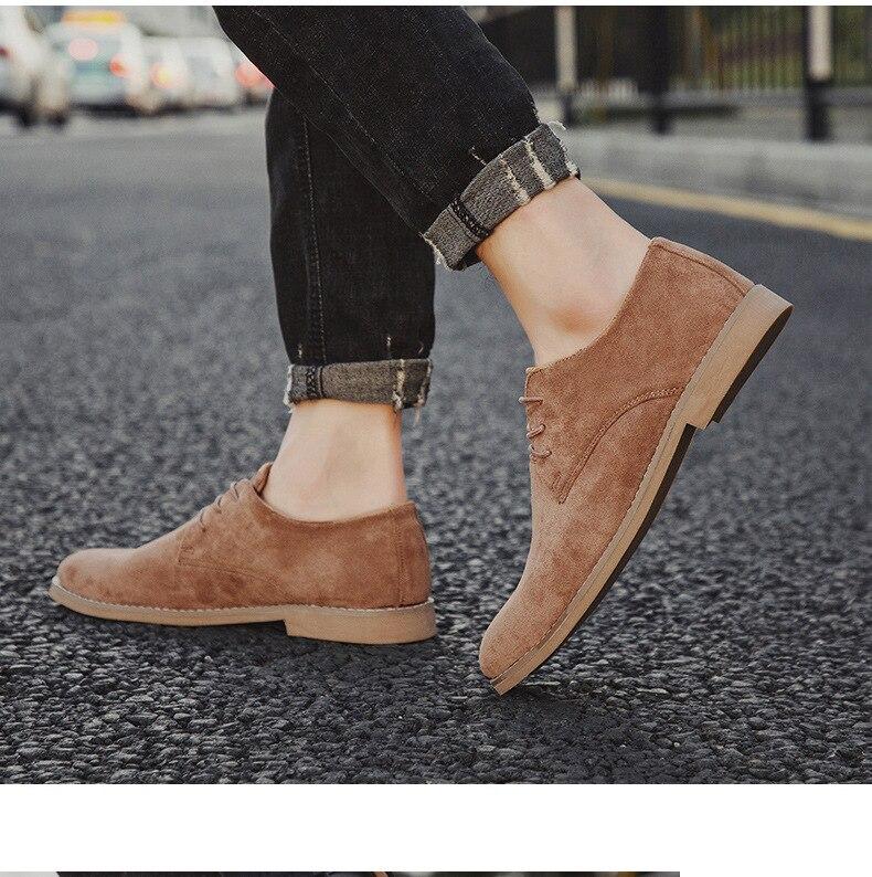 H269d9af79ddc4c11ace34af2ad42d703a Merkmak Fashion England Trend Casual Shoes Men Flock Oxford Wedding Leather Dress Men Flats Waterproof Men Shoes Plus Siz
