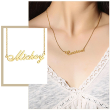 Customize Name Necklaces for Women Words Personalized Pendant Stainless Steel Elegant Choker Unique Mother's Day Gift
